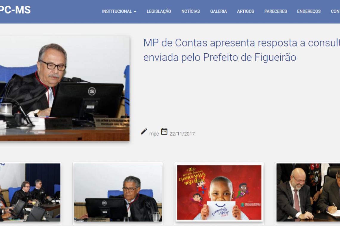 MP de Contas lança novo layout do site
